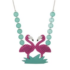 Erstwilder flamingo funk necklace