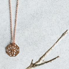 Rose Gold Poppy Pendant