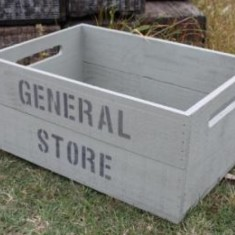 Personalised apple crate