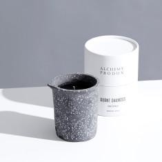 Dark Terrazzo Beaker Candle 330g - Burnt Oakmoss