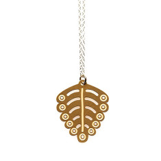 Gold small fern pendant