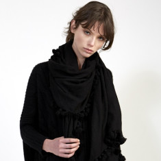 Naomi Tassel Scarf in All Black