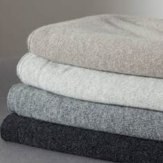 Cashmere jersey throw (various colours)