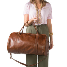 Alex leather duffel bag (available in two colours)