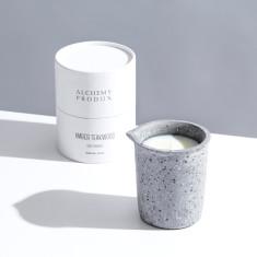 Light Terrazzo Beaker Candle 330g - Amber Teakwood