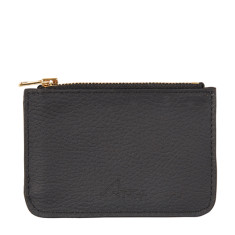 Lily coin purse in Italian black leather