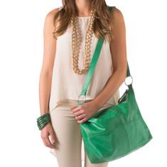 Avery vintage leather handbag in emerald green