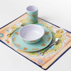 Treasure hunt-themed dinner set & game