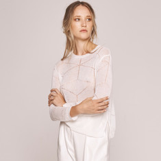Dune Linen Pointelle Knit (various colours)