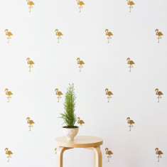 Flamingo pattern wall stickers