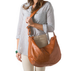 Savannah leather slouch handbag