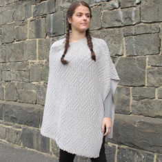 Merino wool poncho