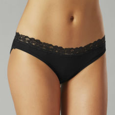 Bamboo bikini underwear in black