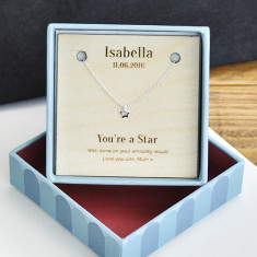 Personalised You're A Star Sterling Silver Necklace