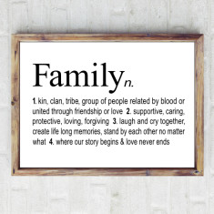 Family dictionary print
