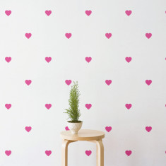 Confetti heart wall stickers