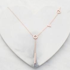 L.O.V.E. necklace in rose gold