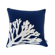 Nantucket Cushion Cover with Coral Applique
