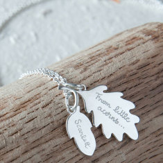 Mother's personalised acorn necklace