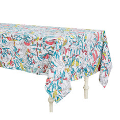 Birds & Blossoms Cotton Tablecloth