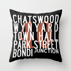 Sydney bus route M40 cushion cover