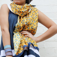 Silk scarf in bicycle design