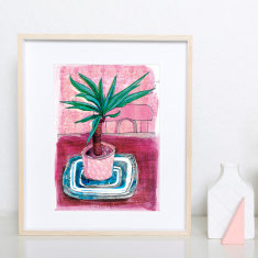 Little Palm Archival Art Print illustration