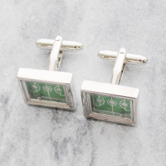 Soccer game stainless steel cufflinks