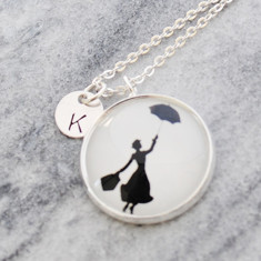 Personalised Mary Poppins necklace in silver