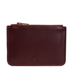 Lily coin purse in dark red leather