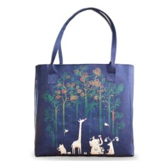 Paint The Rainforest Vegan Leather Tote Beach Bag