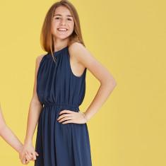 Kids' Milan dress in dusty navy