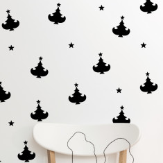 Christmas Tree With Star Wall Stickers