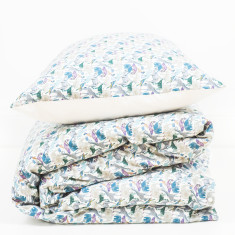 Liberty Print Duvet Set In Queue For The Zoo Print