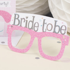 Personalised bride to be card glasses
