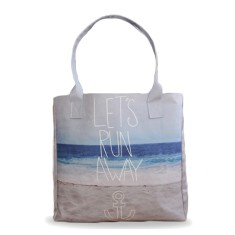 Let's Run Away Vegan Leather Tote Beach Bag