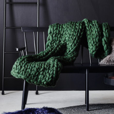 Frost Throw In Forest Green