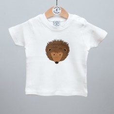 Babies short sleeve t shirt hedgehog