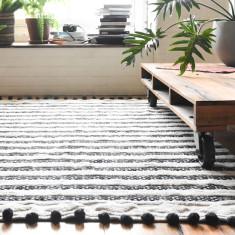 Matisse Tufted Rug - Black Pom Pom