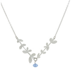 Nine leaf branches (silver)