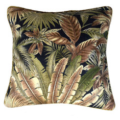 Fan Palm Bronze Indoor or Outdoor Cushion (various sizes