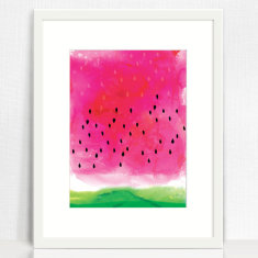 Watermelon Wash Art Print