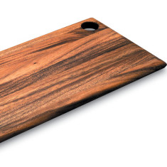 Everyday cutting or serving board in acacia wood