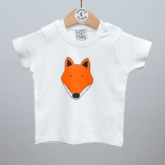 Babies short sleeve t shirt fox
