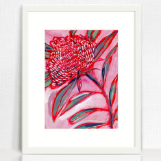 Pink and Red Botanical Study No.1 Archival Art Print