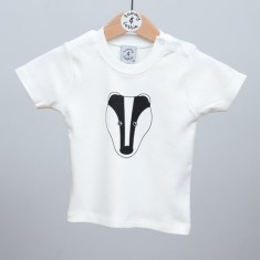 Babies short sleeve t shirt badger
