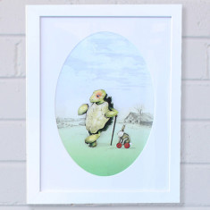 The tortoise framed artwork