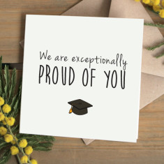Proud of you graduation card