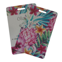 Set of 2 Personalised luggage tags Tropical Daze Design - New Design