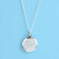 St Christopher sterling silver travel pendant